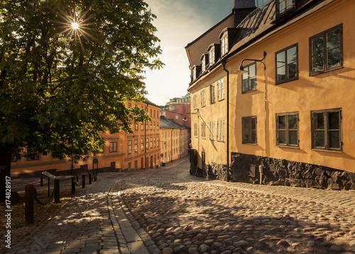 Fotobehang Stockholm Good morning Stockholm