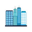 buildings city landscape business center view with location navigation concept vector illustration
