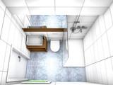 Modernes Badezimmer von Oben - 174836134