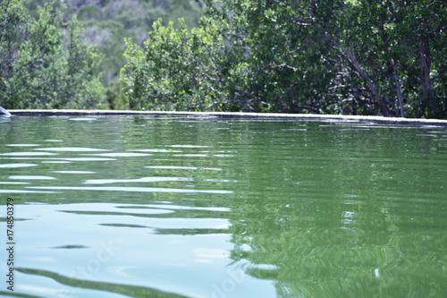 Spoed canvasdoek 2cm dik Olijf Water in a water pila