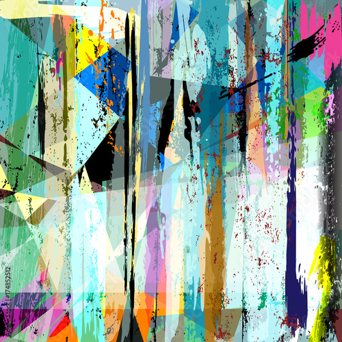 Fotobehang Abstract met Penseelstreken abstract background pattern, with strokes and splashes,