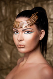 beautiful tan egypt woman