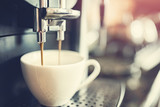 Espresso machine making fresh coffee - 174857367