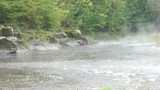 fog on the mountain river - 174860540