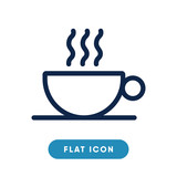 Hot coffee vector icon, cup of coffee symbol. Modern, simple flat vector illustration for web site or mobile app