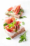 Sandwiches with Cheese and Rocket - 174872930