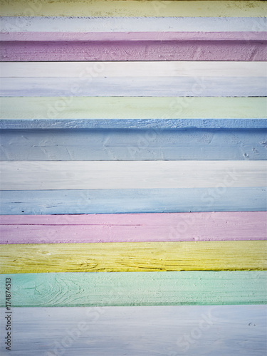 Bunte Holztreppe Poster