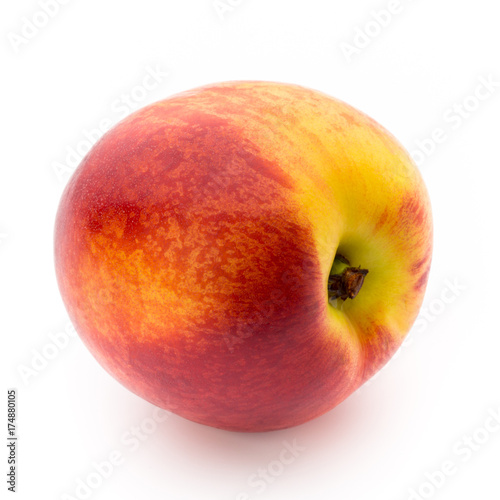 Peach. Fruit with isolated on white background.