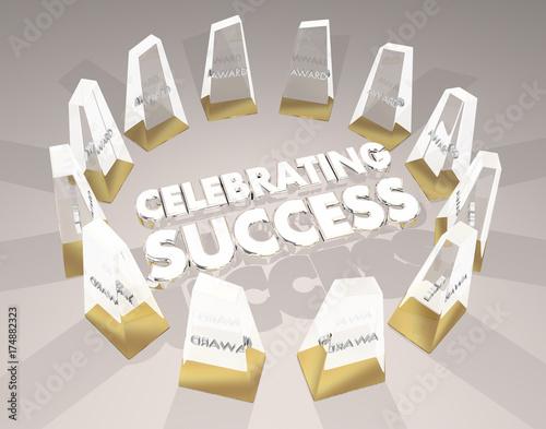 Celebrating Success Awards Ceremony Recognition 3d Illustration