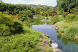 the Japanese garden in the park of the bamboo plantation of Anduze