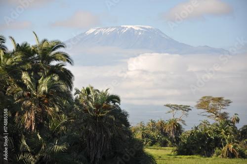 In de dag Blauwe hemel The African landscape. Kenya