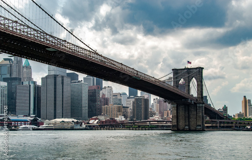 Foto op Plexiglas Brooklyn Bridge Brooklyn Bridge and Manhattan