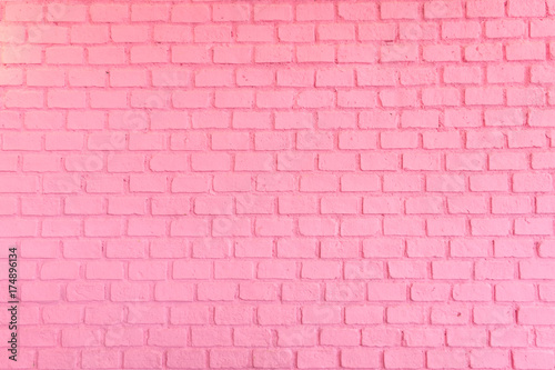 Pastel pink ordered brick wall texture background,backdrop for lady or woman concept. - 174896134