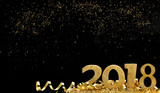 golden figures 2018 in glitters and in the night  - 174899309