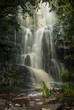 The waterfall at the Silvermine Nature Reserve, Cape Town, after heavy rain - 174903742