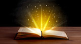 Yellow lights over book - 174904544