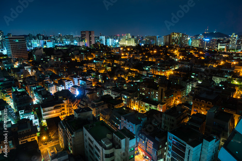Keuken foto achterwand Seoel Nightview of Gangnam Area in Seoul, Korea. (ソウル 江南地区夜景)