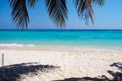 Aluminium Thailand White sand beach on Koh Rok island in southern Thailand