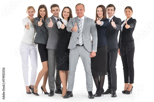 Fridge magnet Business people showing thumb up