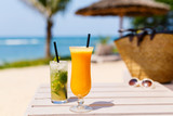 Exotic cocktails at beach - 174928170