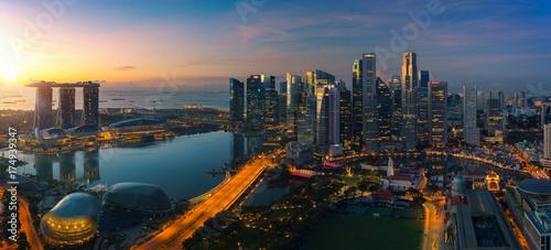 Cityscape of Singapore city