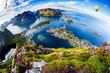 Lofoten archipelago Fisheye lens