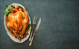 Roasted turkey for Thanksgiving Day or Christmas