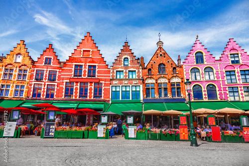 Foto Spatwand Brugge Grote Markt square in Brugge