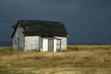 House with a dark grey sky