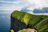 Paysage d'Europe du nord, falaise et océan atlantique