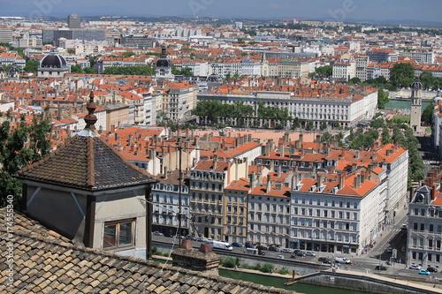 Vue sur Lyon et la place Bellecour