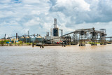 Heavy Industry along the Mississippi River in New Orleans - 174960376