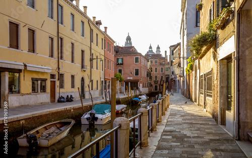 Staande foto Venetie Street in Venice town, Italy
