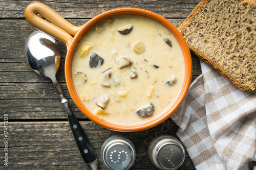 Cream of mushroom soup. - 174972138