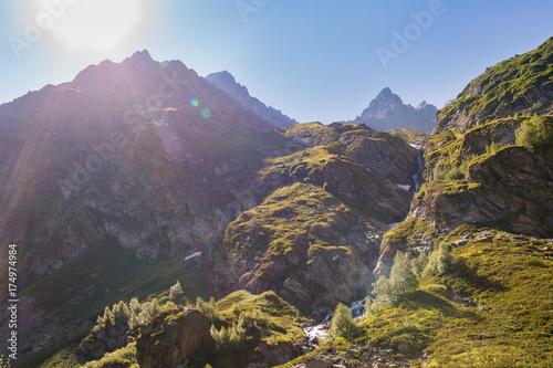 Fotobehang Lente Mountains of the Caucasus