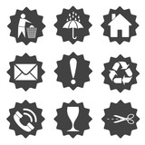 Cargo packaging symbols. Vector illustration. - 174979317