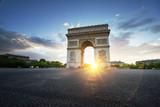 Triumphal Arch at sunset, Paris, France - 174980108
