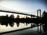 suspension bridge on San river - 174980568