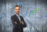Smiling investor man. - 174984180