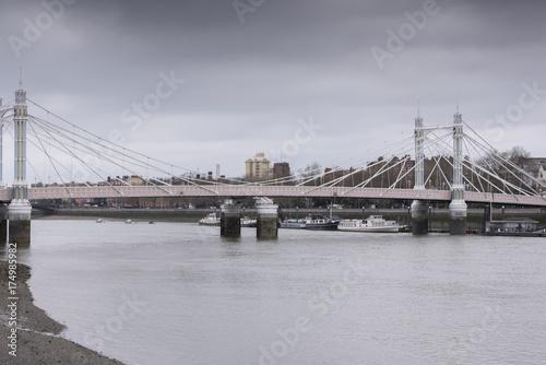 Albert Bridge, London, UK Poster