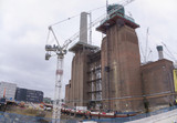 Construction work at Battersea power station