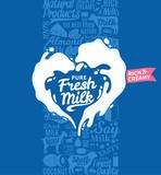 Vector milk logo - 174991745