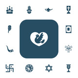 Set Of 13 Editable Faith Icons. Includes Symbols Such As Religious Sewn, Diwali, Taoism And More. Can Be Used For Web, Mobile, UI And Infographic Design. - 175001790
