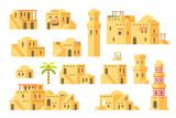 Flat design arab mud houses - 175005995