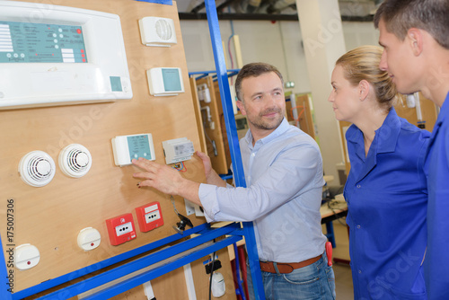 emergency buttons installer apprentices