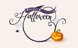 Happy Halloween calligraphy. banners party invitation.Vector illustration. - 175011187