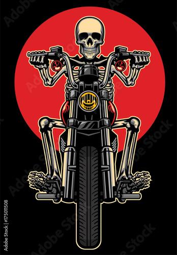 skull riding motorcycle