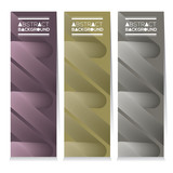 Set Of Three Graphic Vertical Banners Vector Illustration - 175016189