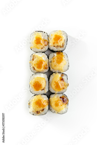 Foto op Canvas Sushi bar Japanese Sushi Roll