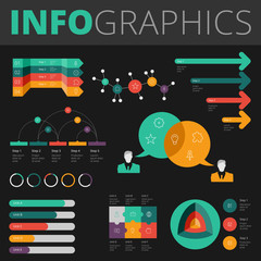 Infographics design elements for business